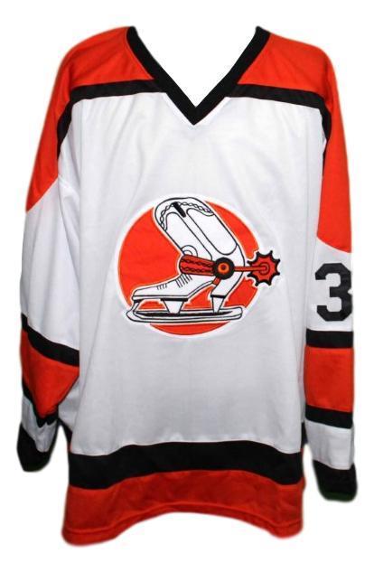 Denver spurs  38 retro hockey jersey white   1