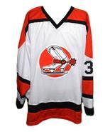 Custom # Denver Spurs Retro Hockey Jersey New White Any Size - $54.99+