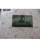 Ralph Lauren Pink and Gray Country Cottage Floral Sheet Set Queen - $116.00