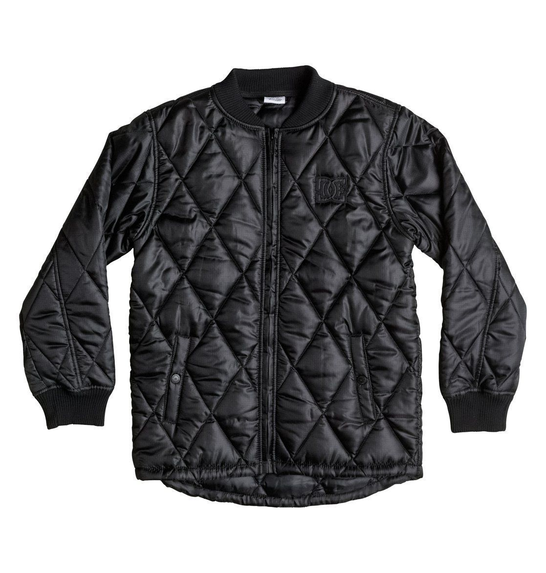 MENS DC Shoes Mens Bombing Poly Filled Nylon Fullzip Bomber Casual Jacket SM S - $56.09