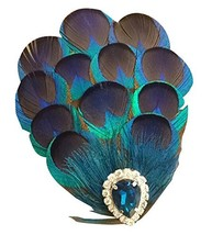 Exquisite Peacock Feathers Hairpin Handmade Retro Hair Ornaments - $26.65