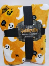 Berkshire Goblinville Halloween Ghost Plush Fleece Throw Blanket 60 x 70 - €38,15 EUR