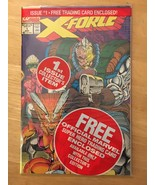 X-Force #1 1991 Marvel Comic Book NM 9.2 Condition X-Force Trading Card ... - $3.59