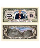 5 Donald Trump President Money Fake Dollar Bills Legacy Note Million Lot - $4.95