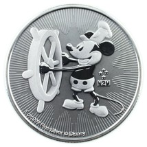 2017 Niue 1oz 999 Plata Redondo Steamboat Willie Mickey Mouse QEII Dos L... - $34.62