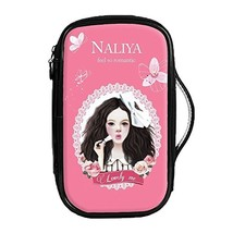 Fashion Waterproof Travel Makeup Case Cosmetic Bag Sundry/Toiletry, Lovely Girl image 2