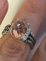 Pre Owned David Yurman Petite Wheaton Morganite Ring 10mmx8mm Size 5 - $300.00