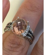 Pre Owned David Yurman Petite Wheaton Morganite Ring 10mmx8mm Size 5 - $300.00