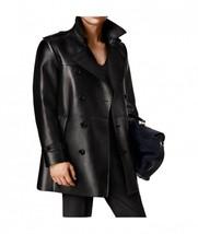 Men Black Lambskin Coat Genuine Leather Coat For Men - $250.00