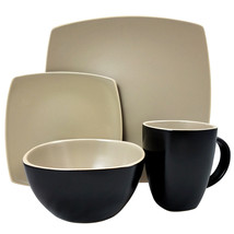 Gibson Home Infinite Glaze Matte 16 Piece Dinnerware Set - $100.13