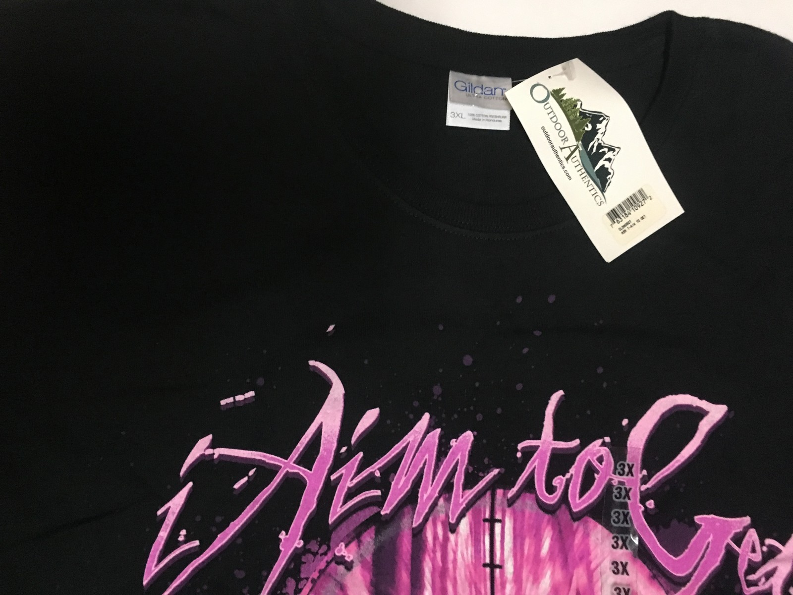 Outdoor Authentics Women's T-Shirt AIM TO GET WHAT I WANT Sz 3XL NWT