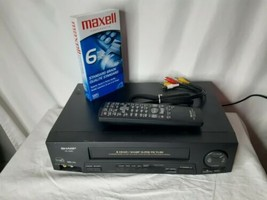 Sharp VC-A420U Video Cassette Recorder VCR VHS Tape Player with Remote + Cables - $59.35