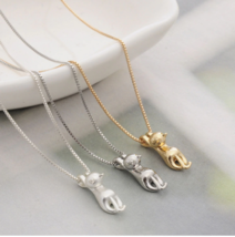 Fashion Cute Cat Necklace & Pendant For Women Gift Silver Gold Color - $5.86