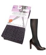 Hanes Solutions Animal Print Tights Black Gray Combo XL Leopard Pattern ... - $6.50