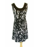 WHITE HOUSE BLACK MARKET Size 4 Black Print Cotton Sleeveless Dress - $22.99