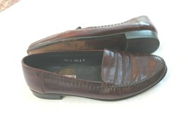 Stanley Blacker Italy Sz 10.5 D Maroon Real Leather Slip On Dress Casual... - $49.50