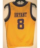 1957 Los Angeles Lakers NBA Kobe Bryant #8 BOYS Gold Purple Throwbacks J... - $59.39