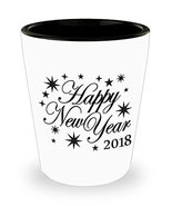 Happy New Year 2018 Shot Glass Starburst Man Cave Collectors Party Gift ... - $9.89