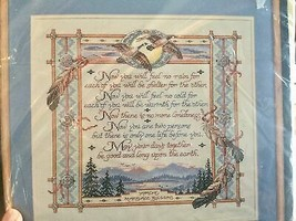 Bucilla Counted Cross Stitch Apache Marriage Blessing - $18.79