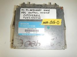92-93 MERCEDES  400E ABS CONTROL MODULE  0105459832 / 0265101036    (MER... - $9.85