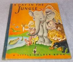 Little Golden Book A Day in the Jungle #18 Blue Cloth Binding 1943 T Ge... - £21.71 GBP