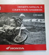 2009 Honda CRF450R Motorcycle Owners Manual Competition Handbook New Factory - $59.36