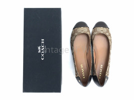 Coach Womens Chelsea Outline Sig Khaki Monogram C Logo Leather Trim Slip... - $55.99