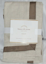 Pottery Barn Linen with Silk Trim Standard Sham Brownstone New - $37.83
