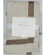 Pottery Barn Linen with Silk Trim Standard Sham Brownstone New - $37.83