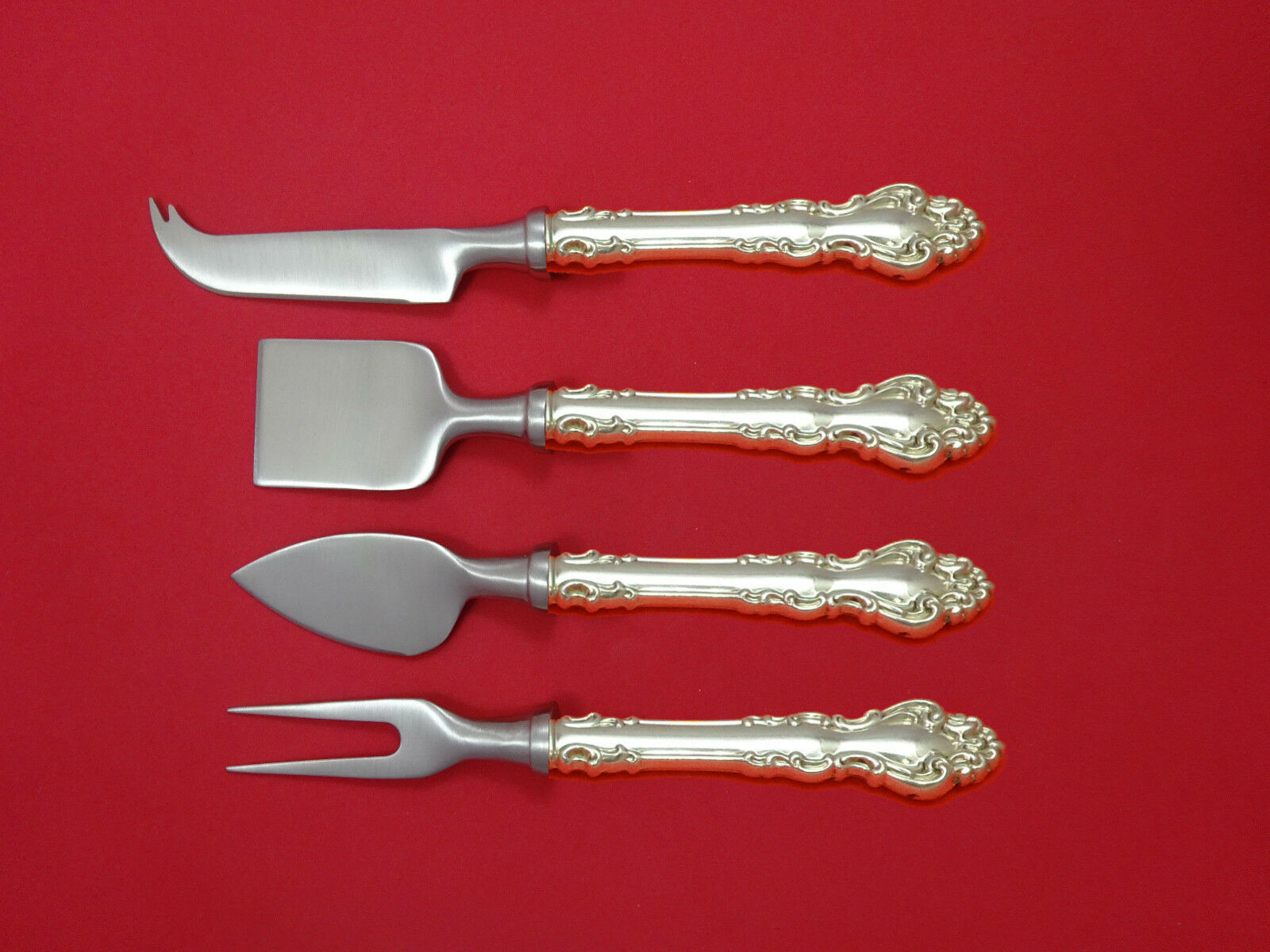 Primary image for Spanish Baroque by Reed and Barton Sterling Silver Cheese Serving Set 4pc Custom