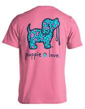 Puppie Love Rescue Dog Men Women Short Sleeve Graphic T-Shirt, Leopard Pup image 1