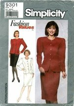Simplicity 9301 Sewing Pattern Misses Two-Piece Dress Size 8 - 18 - Bust... - $11.76