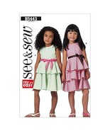 BUTTERICK PATTERNS B5443 Children's/Girls' Dress, Size B (6-7-8) - $4.90