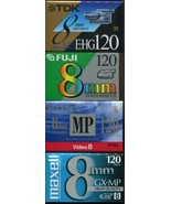 Lot of 4 - Sony, Maxwell, TDK & Fuji 8mm, Video Cassette Tapes - Brand New - $19.79