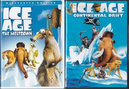 Ice Age The Meltdown (2006) and Continental Drift (2012) Widescreen DVD's - $5.99
