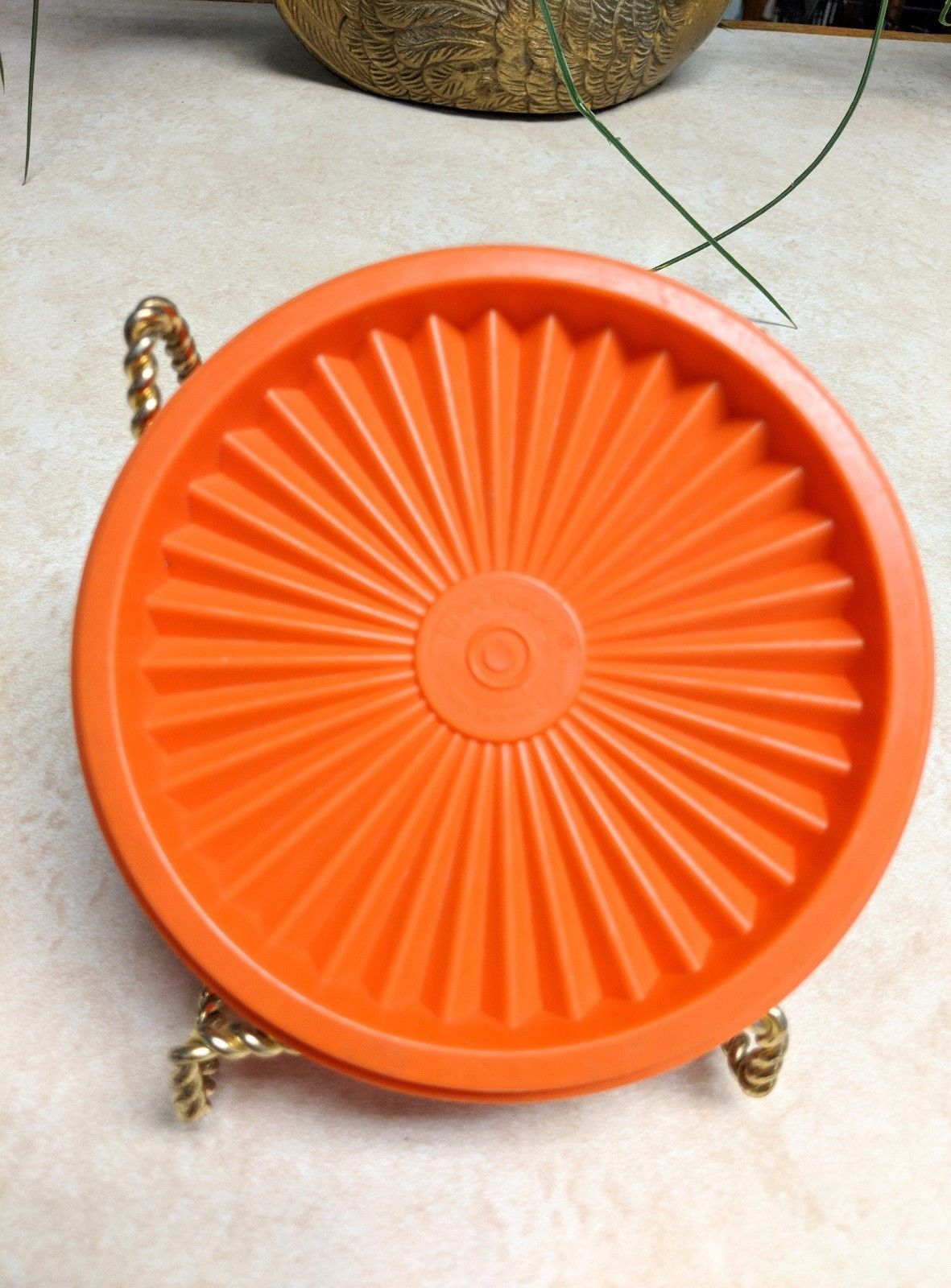 Primary image for Vintage Tupperware Orange Lid 812-19