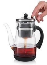 Gourmia GTP9815 Tea & Coffee Pot Glass Loose Leaf Tea Maker With Stainle... - £20.38 GBP
