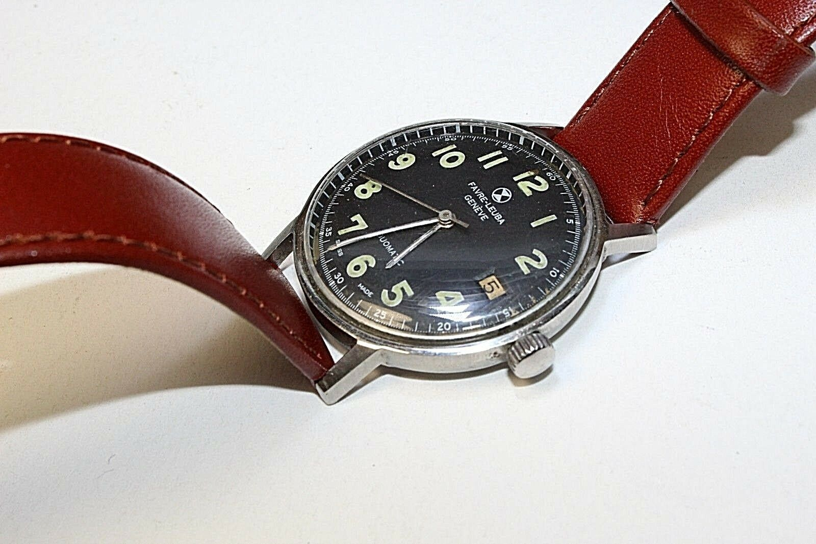 Favre leuba Swiss automatic men watch Duomatic Vintage in running condition