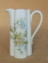 Beautiful antique Limoges Haviland blue flowered gold trim porcelain pit... - $50.00