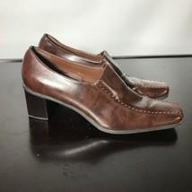 Franco Sarto Sz 8.5 M, brown Slip-On mid Heels. Nice Condition! - $16.83