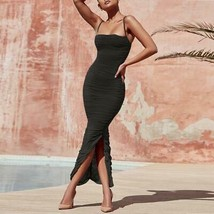 Ship From USA !!!   Women Maxi Mesh Dress  2020 Bodycon Mesh Dress Sexy V Neck P image 1