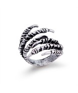 1PC Punk Vintage Silver Eagle Claw Open Ring For Women Hip Hop Jewelry M... - $9.61