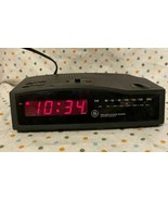 Vintage General Electric AM FM Clock Radio with Battery Backup 74813A - ... - $16.00