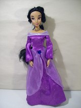 "Disney Store Princess Jasmine Singing 11"" Doll Purple Outfit Aladdin - $24.45"