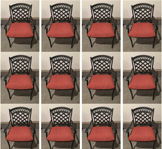 Outdoor dining chair set of 12 aluminum patio furniture restaurant seating image 1