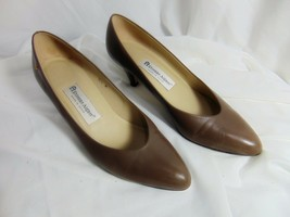 ETIENNE AIGNER Women's Medium Heel Pumps Classics Sz 8.5 M Taupe Spain Leather - $29.00