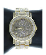 NY LONDON Men Hip Hop GP Iced Out Lab diamond Rapper Watch Japanese Move... - $43.60