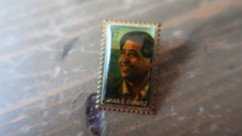 CESAR E CHAVEZ 37 CENT STAMP PIN CIVIL RIGHT LEADER VINTAGE LAPEL HAT PIN - $19.79