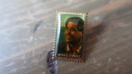 CESAR E CHAVEZ 37 CENT STAMP PIN CIVIL RIGHT LEADER VINTAGE LAPEL HAT PIN - $19.79