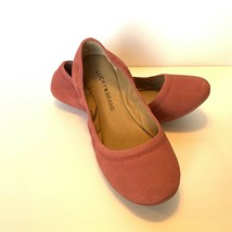 LUCKY Brand 5.5W  Slip on scrunch  BALLET FLATS shoes pink 'suede' NEW - $40.00